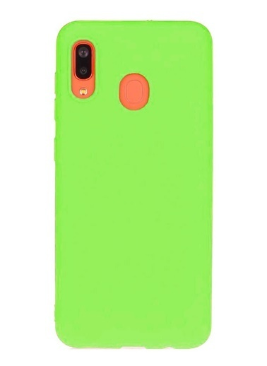 MobilCadde Samsung Galaxy A20 / A30 Eiroo Lansman Silikon Telefon Kılıfı Yeşil